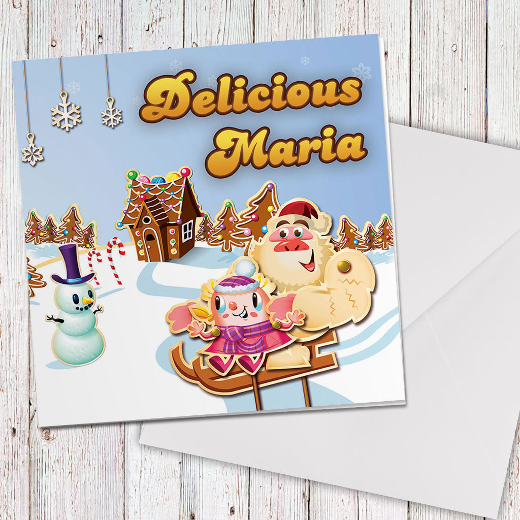 Merry Christmas Mr Yetti Greeting Card (Lifestyle)