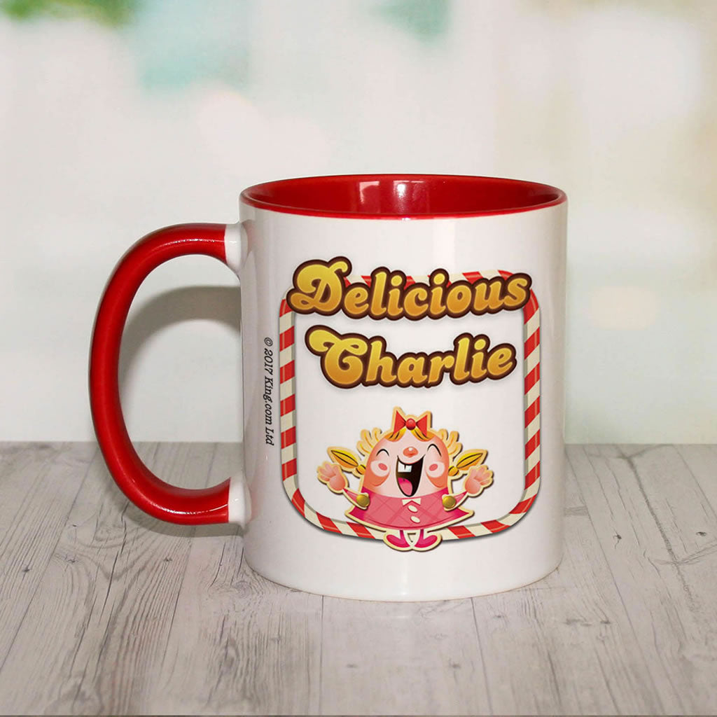 Delicious Tiffy Coloured Insert Mug (Lifestyle Front)