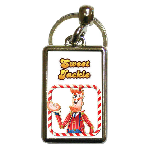 Tasty Mr Toffee Metal Keyring