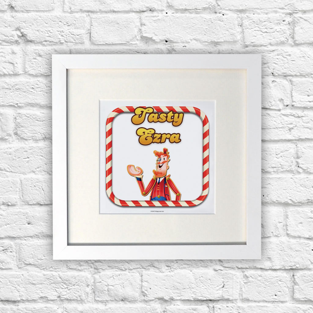 Tasty Mr Toffee White Framed Print (Lifestyle)