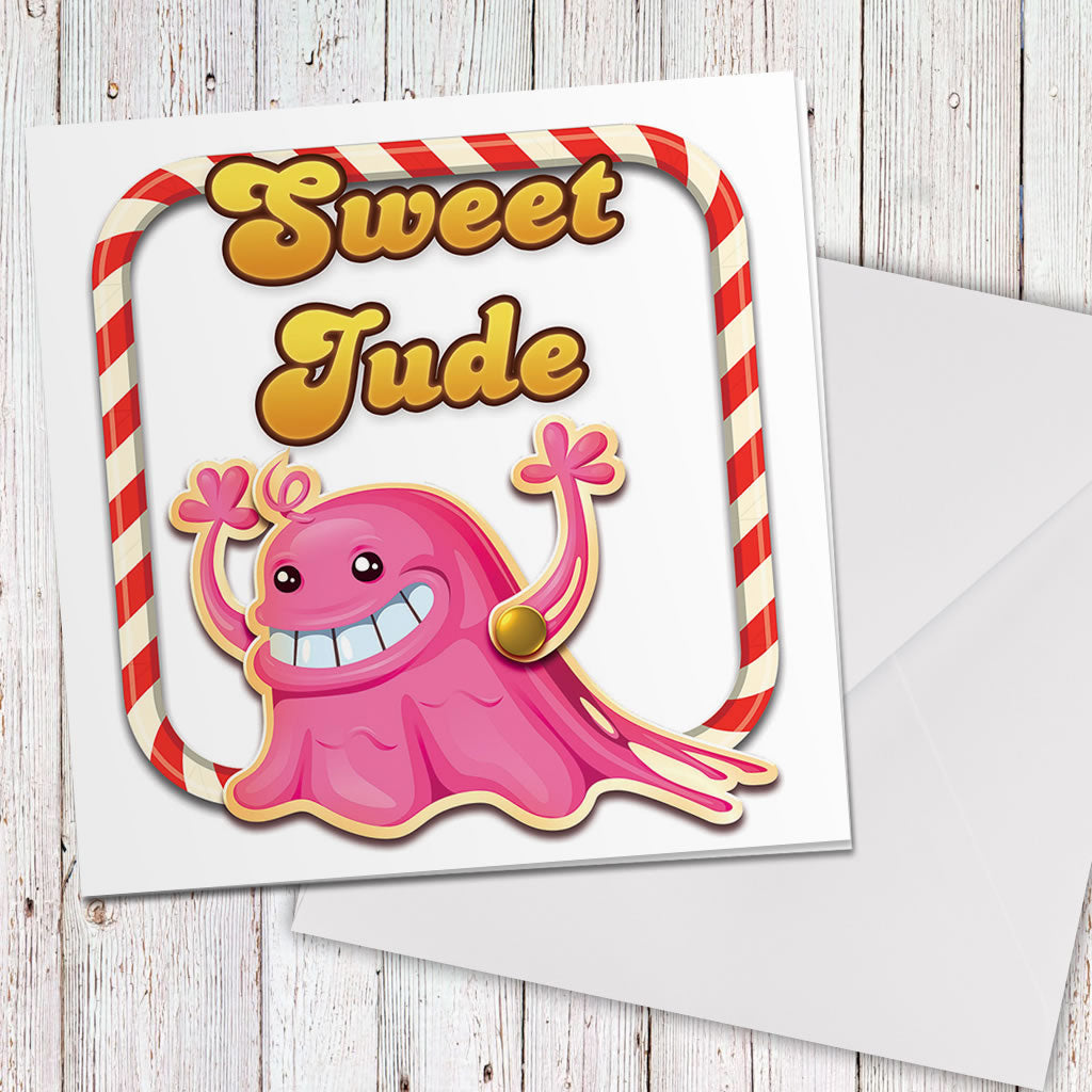 Tasty Bubblegum Troll Greeting Card (Lifestyle)