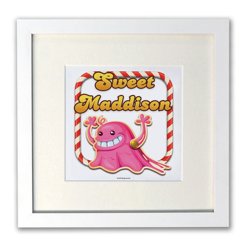 Tasty Bubblegum Troll White Framed Print