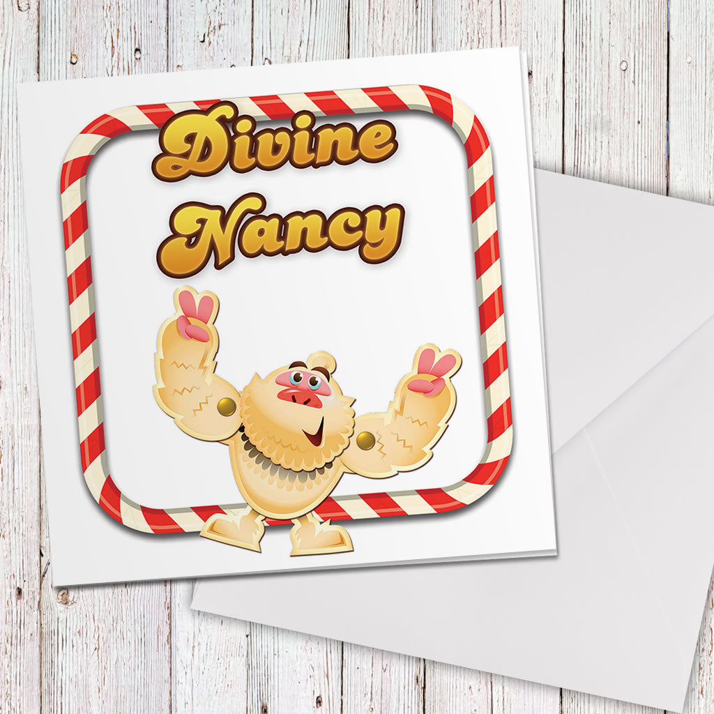 Divine Mr Yetti Greeting Card (Lifestyle)