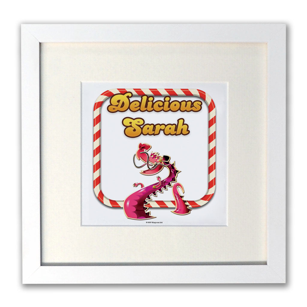 Delicious Denize White Framed Print