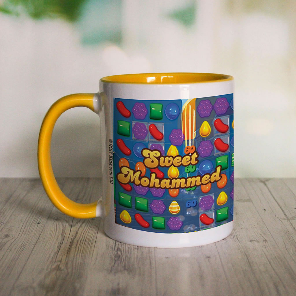 Sweet Gameboard Coloured Insert Mug (Lifestyle Front)