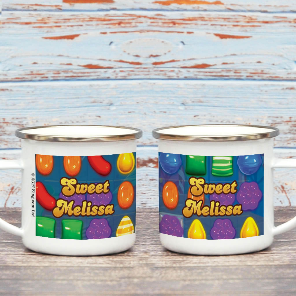 Sweet Gameboard Enamel Mug (Lifestyle)