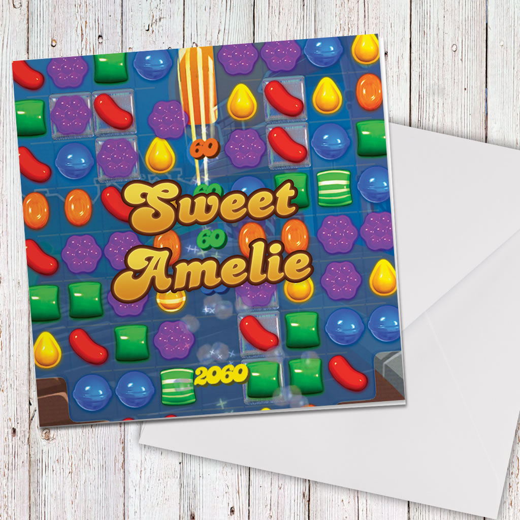 Sweet Gameboard Greeting Card (Lifestyle)