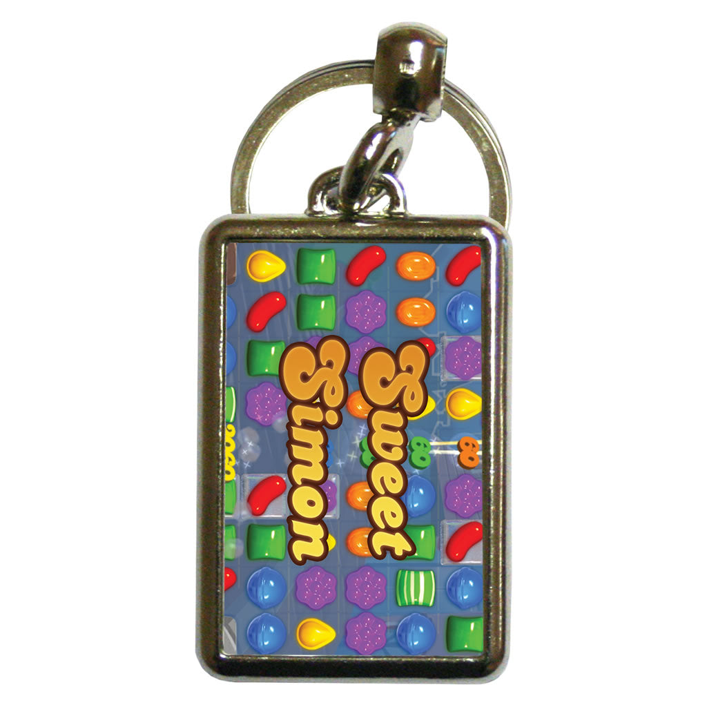 Sweet Gameboard Metal Keyring