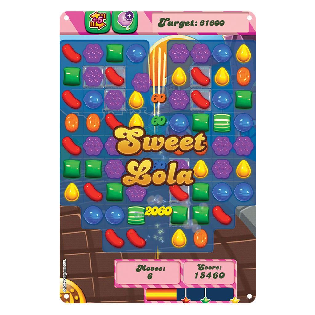 Sweet Gameboard Metal Sign