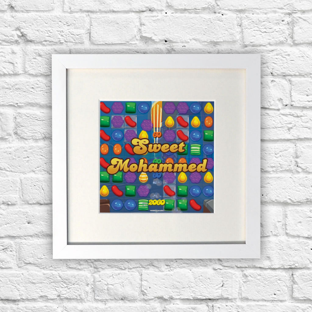 Sweet Gameboard White Framed Print (Lifestyle)