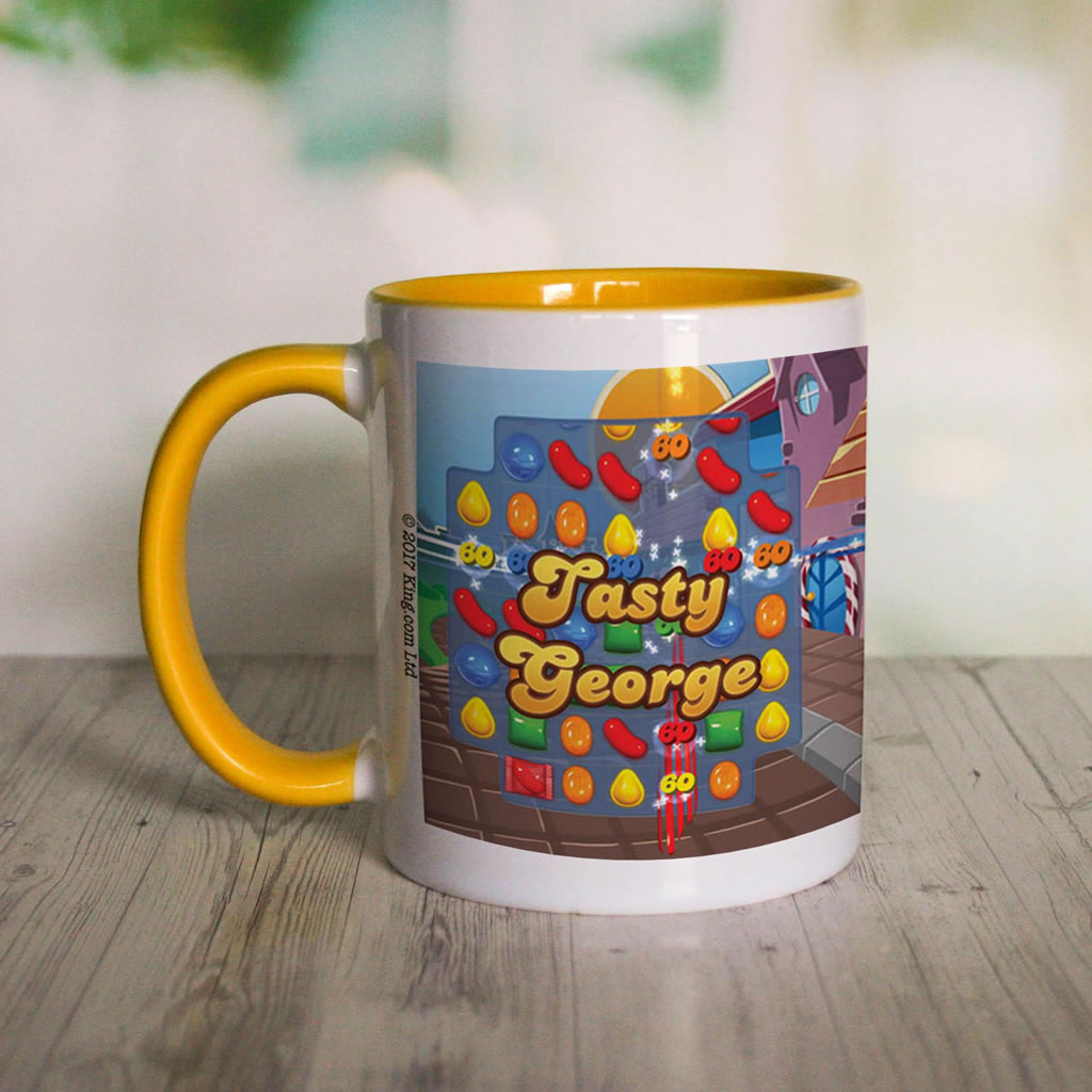 Tasty Gameboard Coloured Insert Mug (Lifestyle Front)