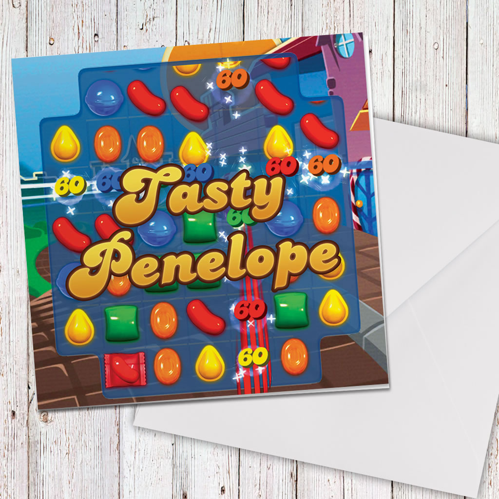 Tasty Gameboard Greeting Card (Lifestyle)