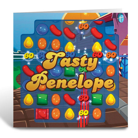 Tasty Gameboard Greeting Card