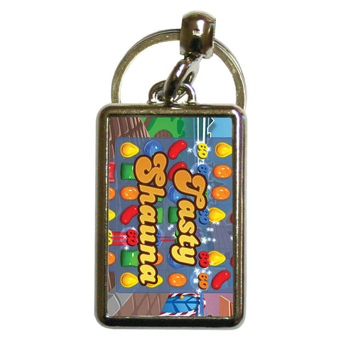 Tasty Gameboard Metal Keyring