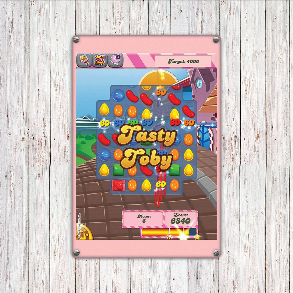 Tasty Gameboard Metal Sign (Lifestyle)