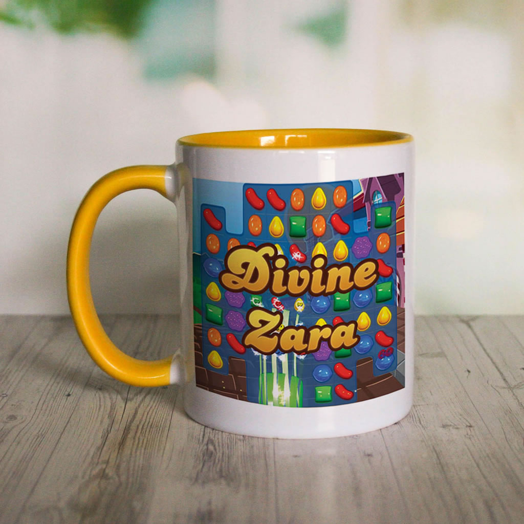 Divine Gameboard Coloured Insert Mug (Lifestyle Front)