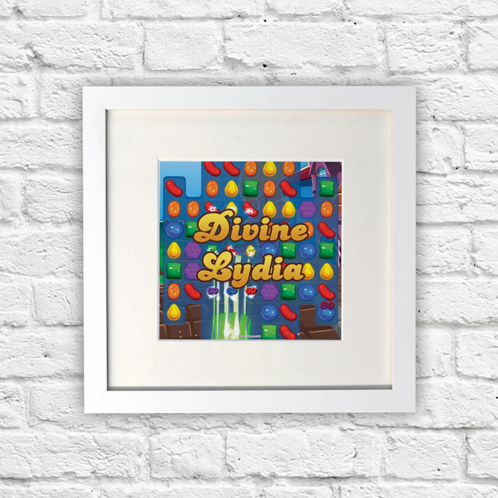 Divine Gameboard White Framed Print (Lifestyle)