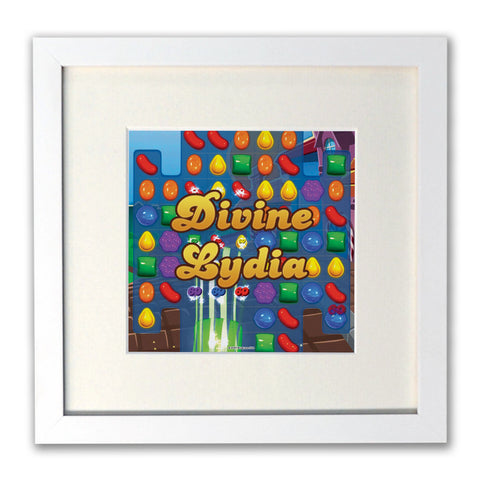 Divine Gameboard White Framed Print