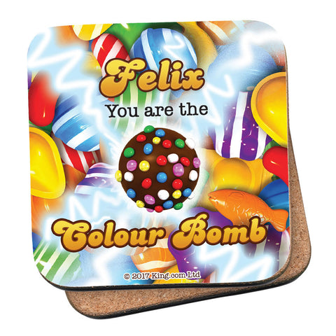 You Are The Colour Bomb Gameboard Coaster