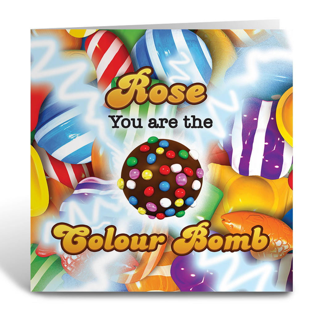 You Are The Colour Bomb Gameboard Greeting Card