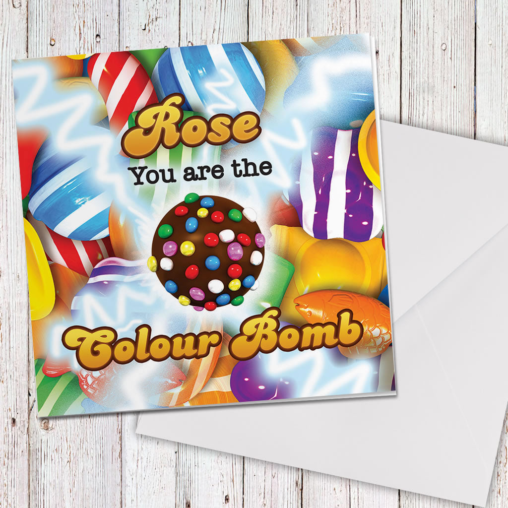 You Are The Colour Bomb Gameboard Greeting Card (Lifestyle)