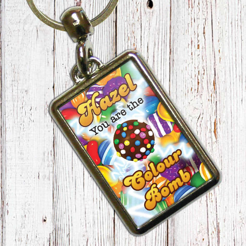 You Are The Colour Bomb Gameboard Metal Keyring (Lifestyle)