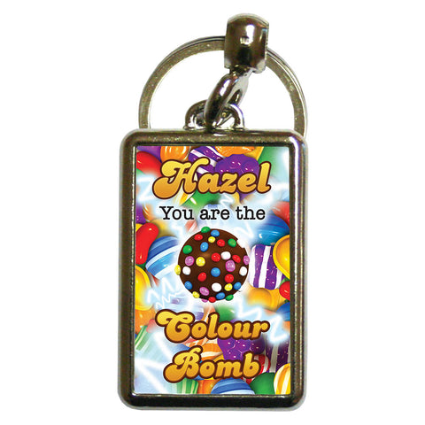 You Are The Colour Bomb Gameboard Metal Keyring
