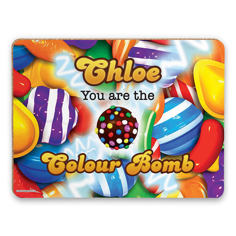 You Are The Colour Bomb Gameboard Placemat
