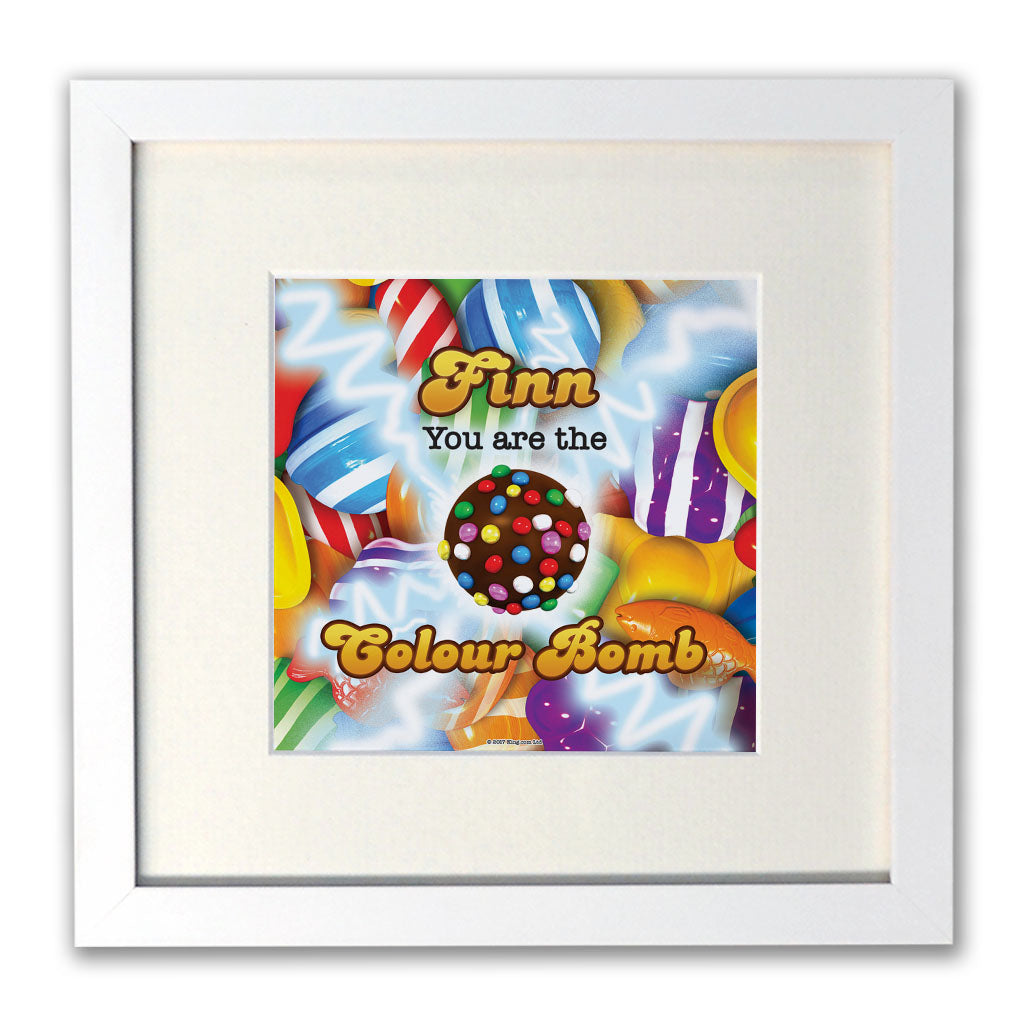 You Are The Colour Bomb Gameboard White Framed Print