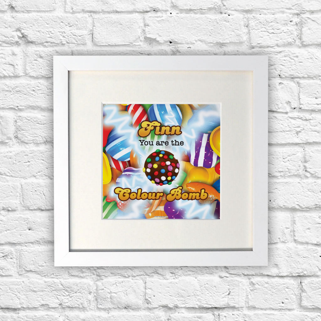 You Are The Colour Bomb Gameboard White Framed Print (Lifestyle)