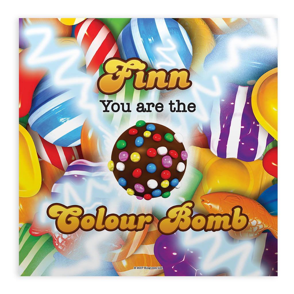 You Are The Colour Bomb Gameboard Mounted Art Print
