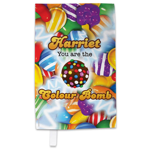 You Are The Colour Bomb Gameboard Tea Towel