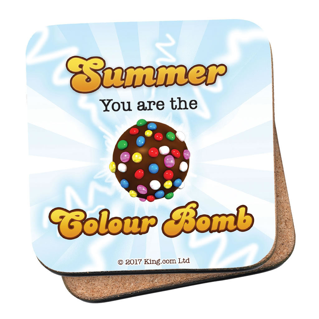 You Are The Colour Bomb Flash Coaster