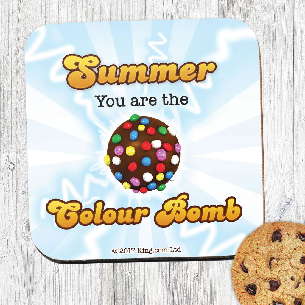 You Are The Colour Bomb Flash Coaster (Lifestyle)