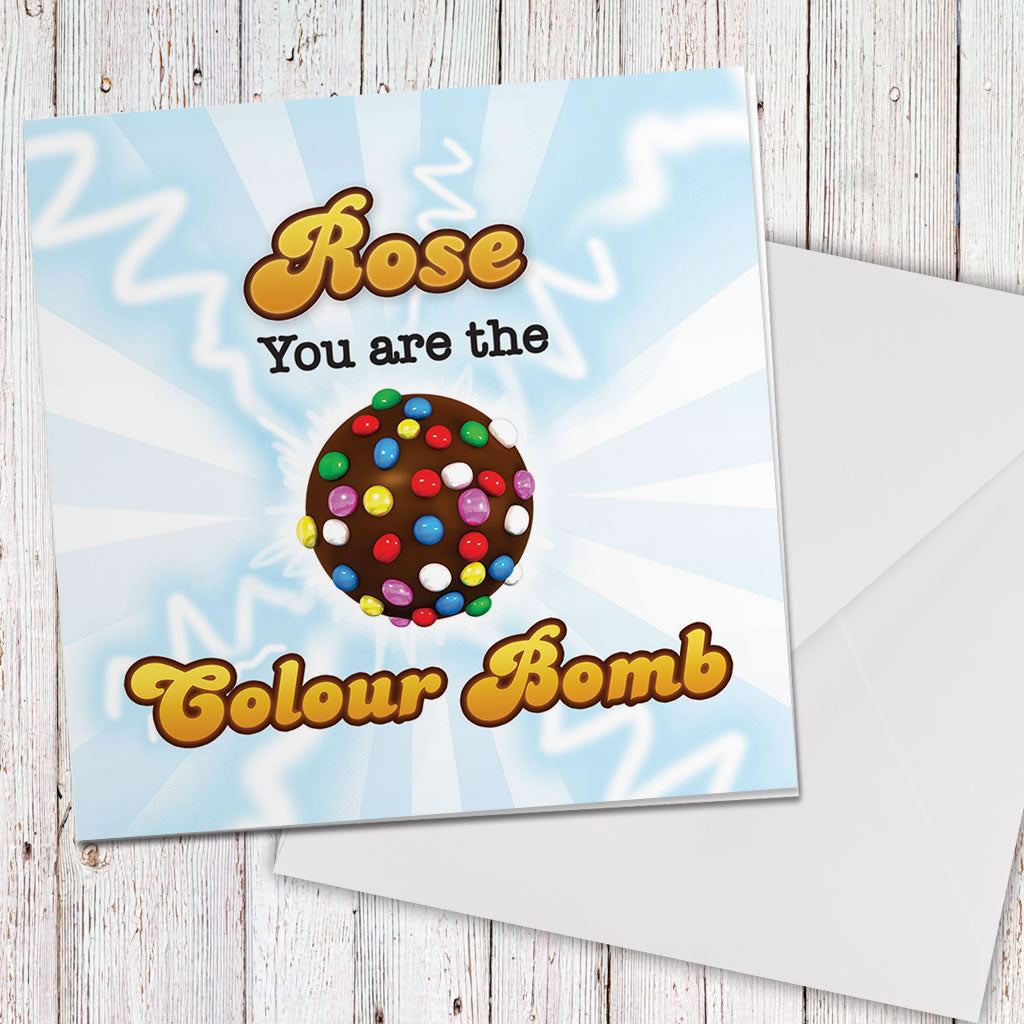 You Are The Colour Bomb Flash Greeting Card (Lifestyle)
