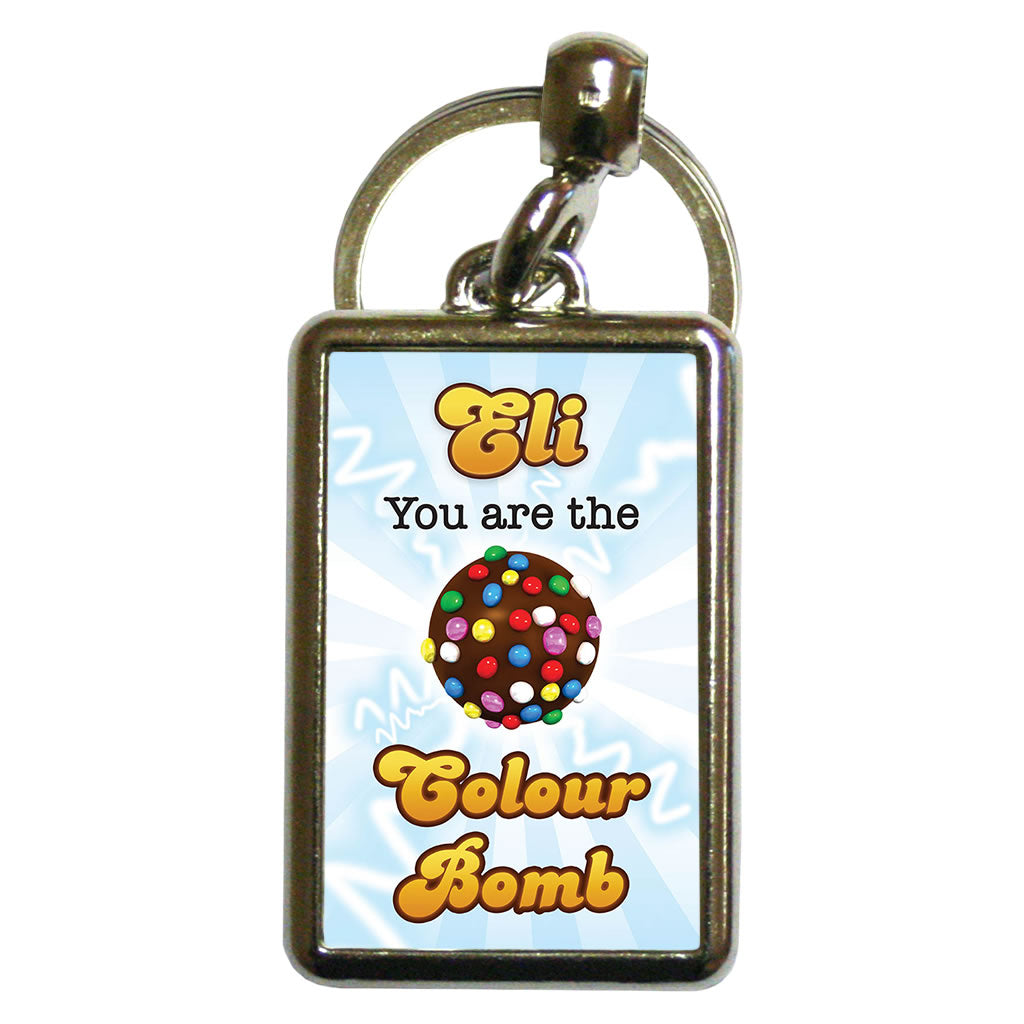 You Are The Colour Bomb Flash Metal Keyring