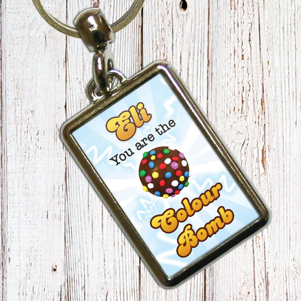 You Are The Colour Bomb Flash Metal Keyring (Lifestyle)