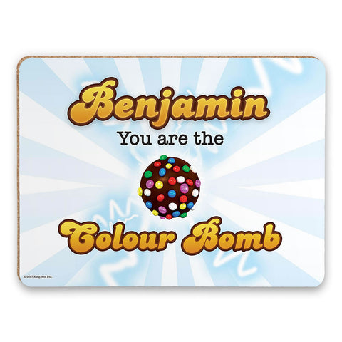 You Are The Colour Bomb Flash Placemat