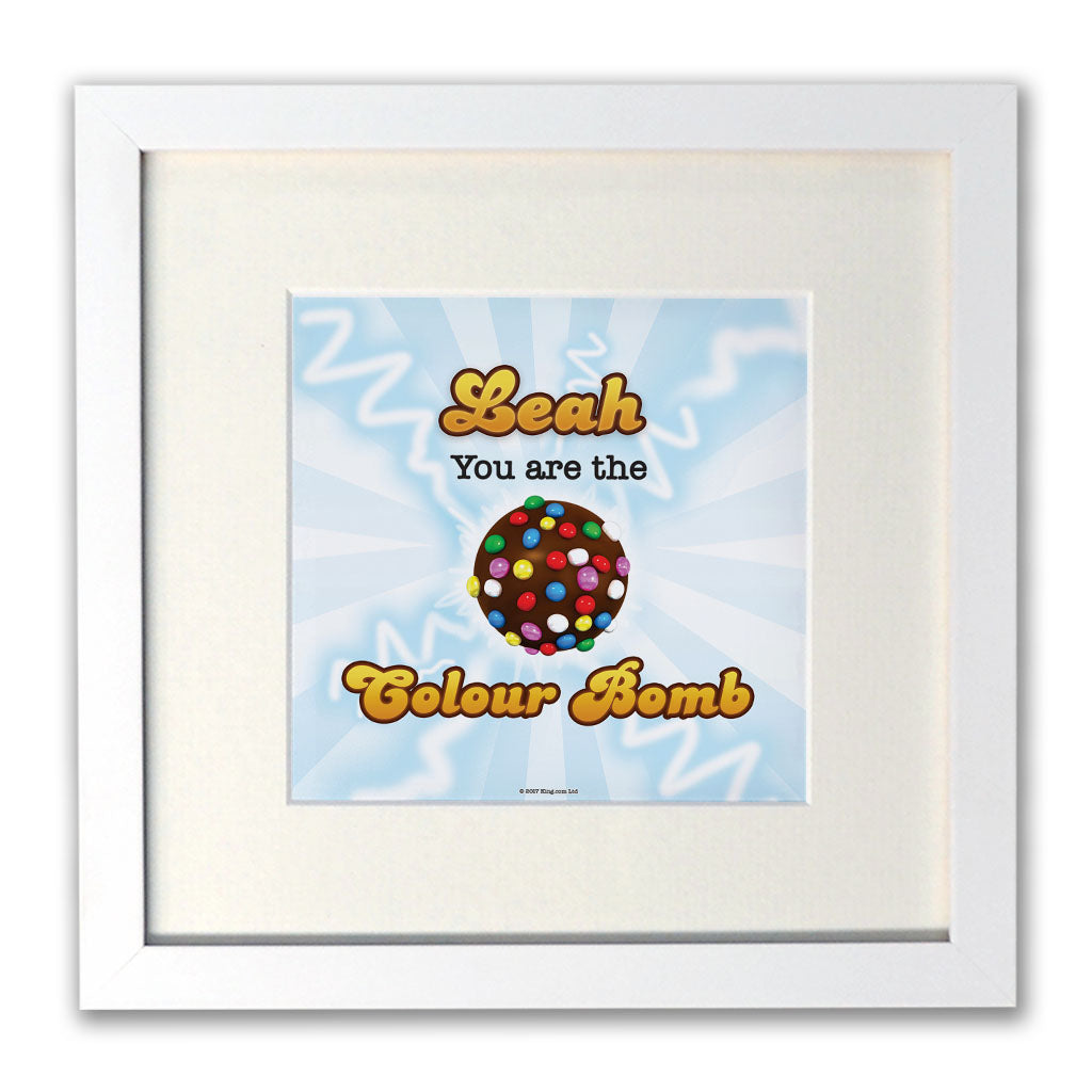 You Are The Colour Bomb Flash White Framed Print