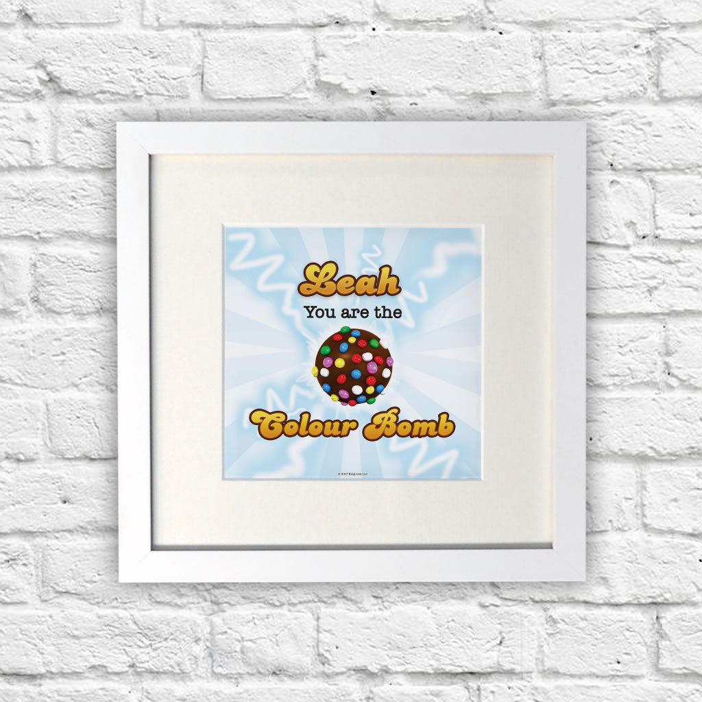 You Are The Colour Bomb Flash White Framed Print (Lifestyle)