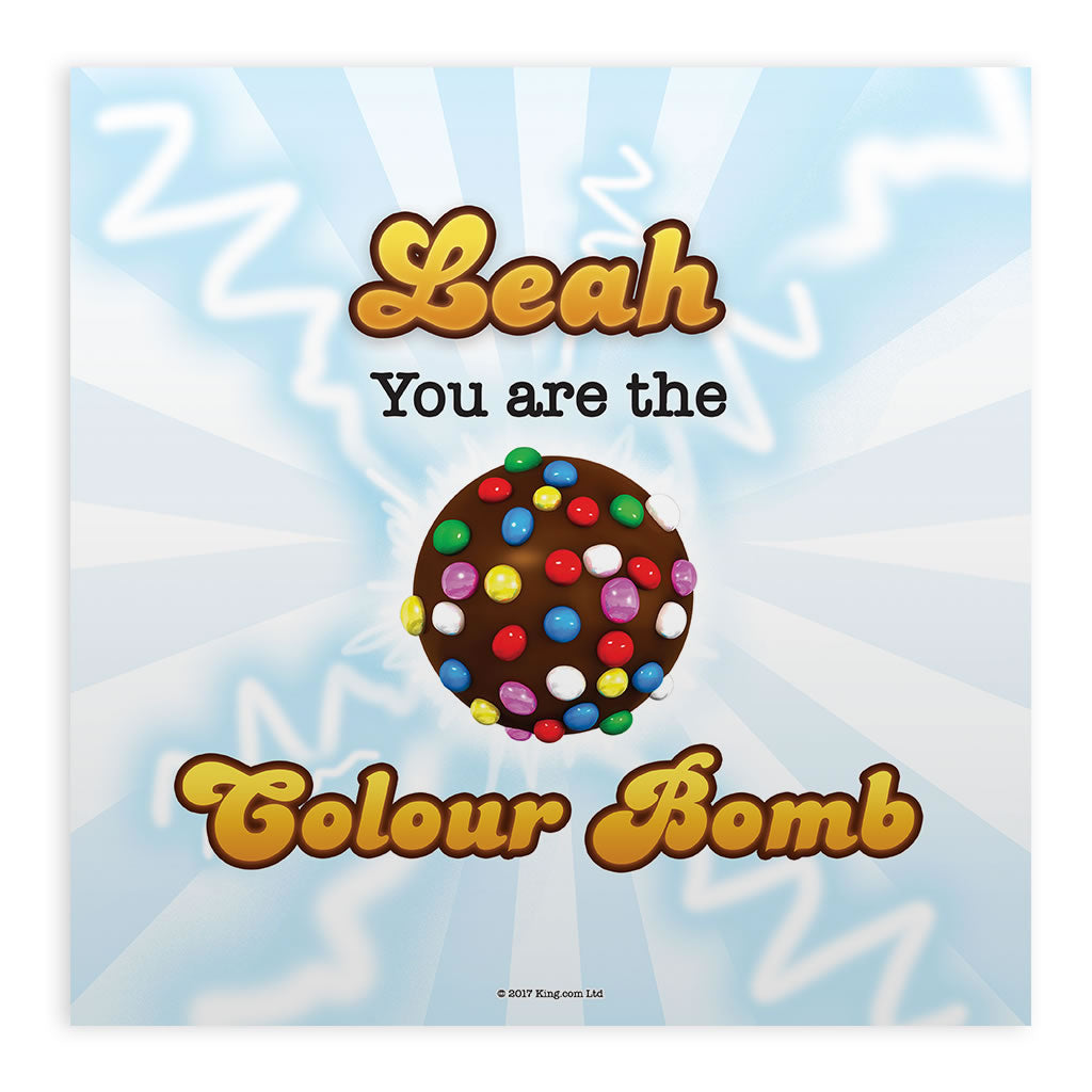 You Are The Colour Bomb Flash Mounted Art Print