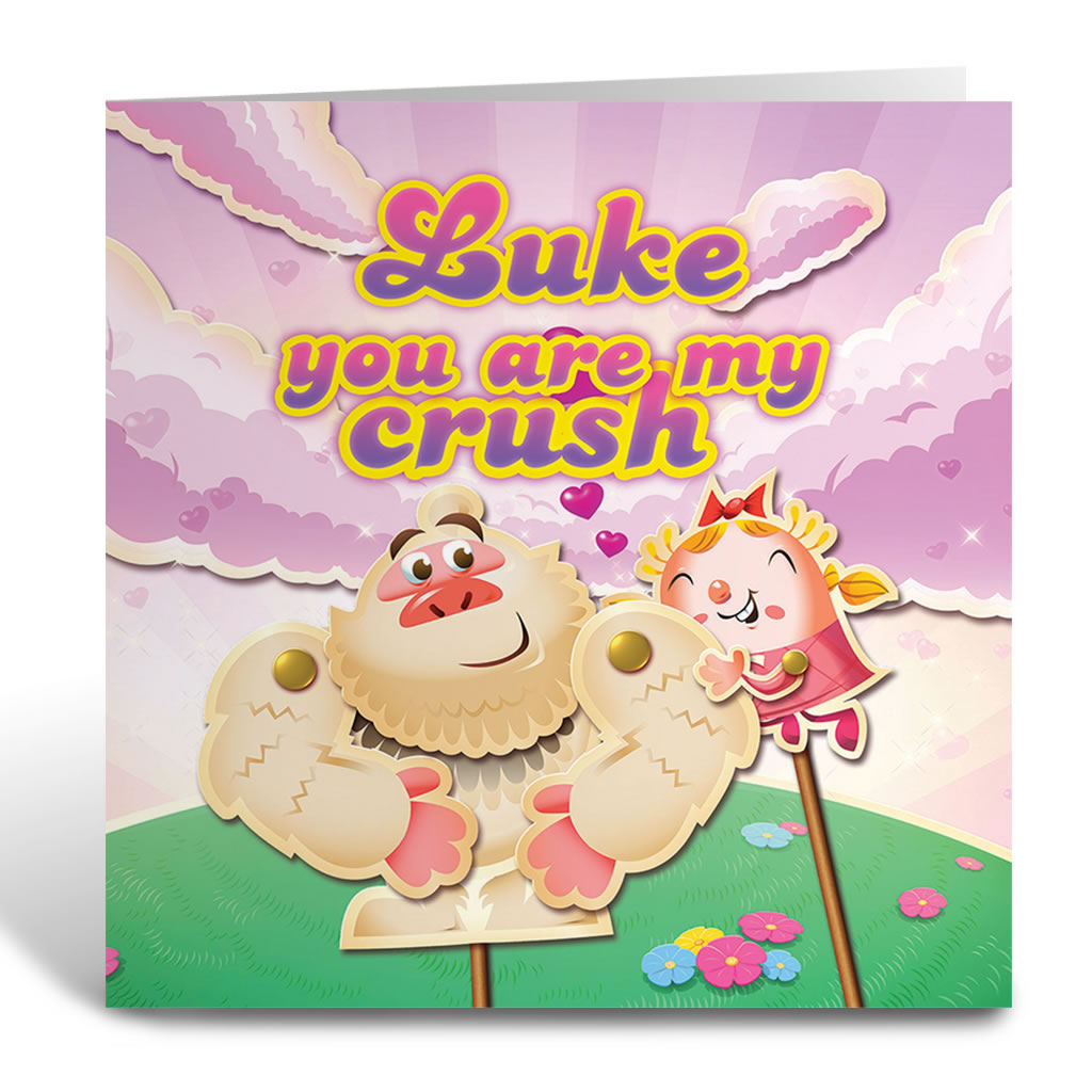 You are my crush Greeting Card