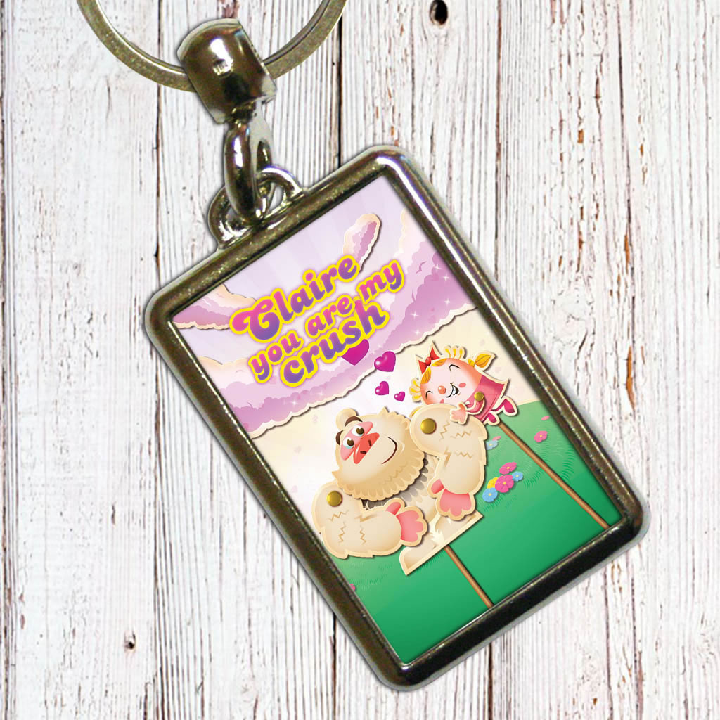 You are my crush Metal Keyring (Lifestyle)