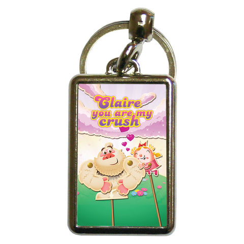 You are my crush Metal Keyring