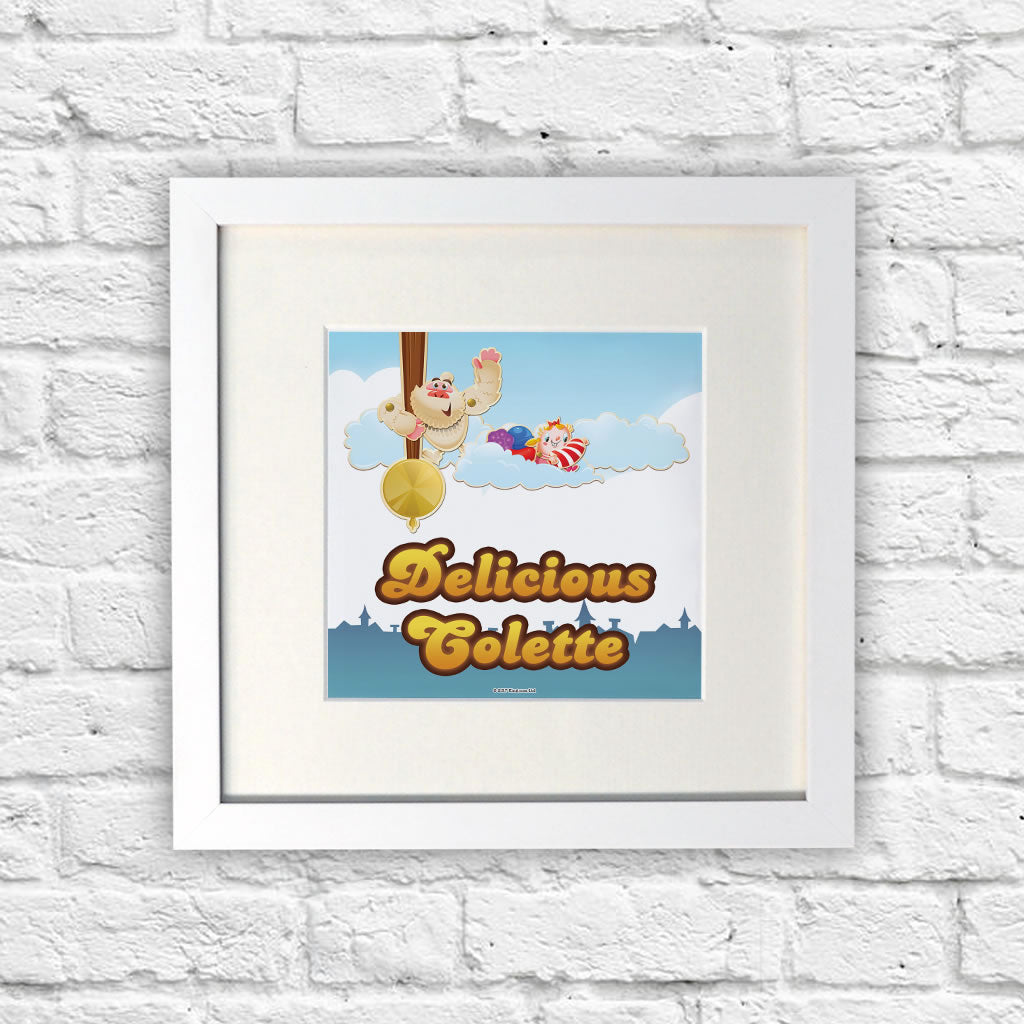 Mr Yetti Swing White Framed Print (Lifestyle)