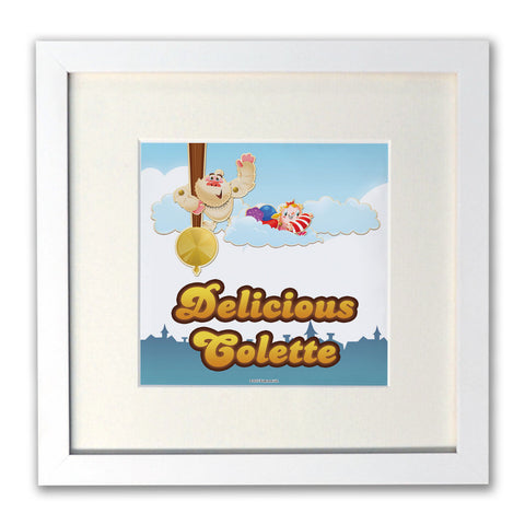 Mr Yetti Swing White Framed Print