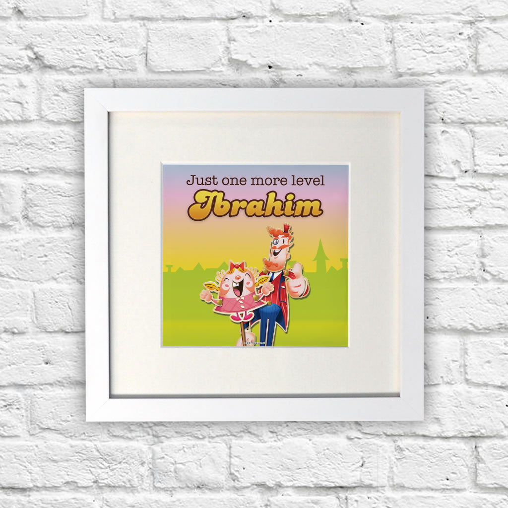 Just one more level White Framed Print (Lifestyle)