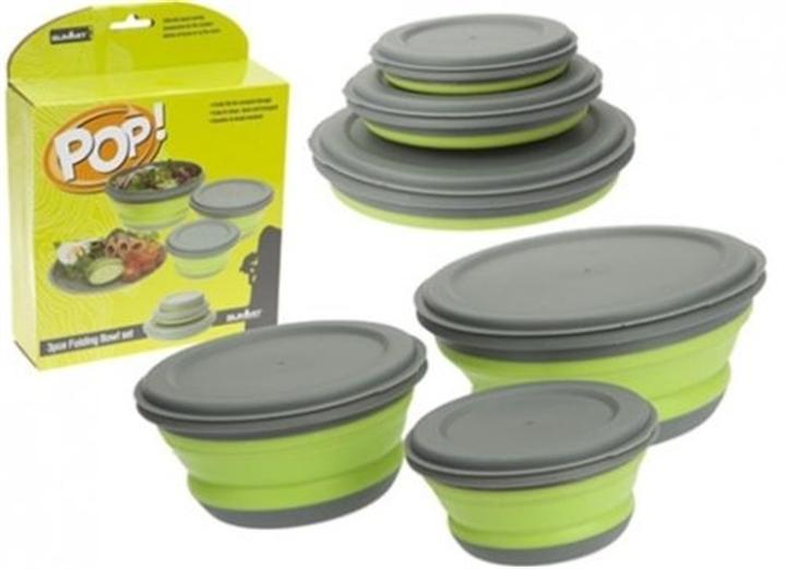 Summit  Pop 3PC Lime Bowl Set