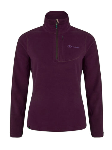 Berghaus Womens Half Zip Micro Fleece Purple