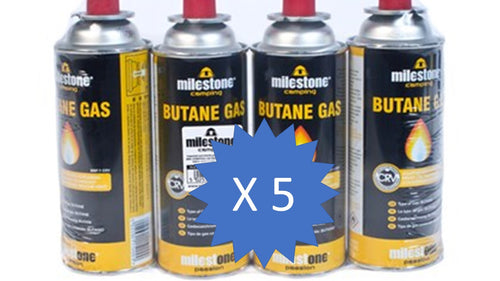 Milestone - 5 Packs of 4 Gas Canisters - 220g